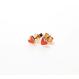 Earstuds Heart red / Selva Sauvage