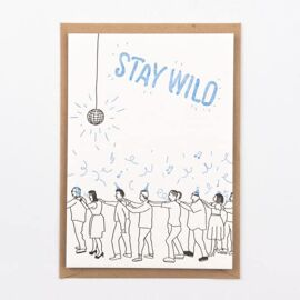 Postkaart Stay wild / Studio Flash