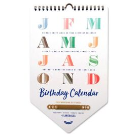 Happy Birthday kalender / Uitgeverij Stratier