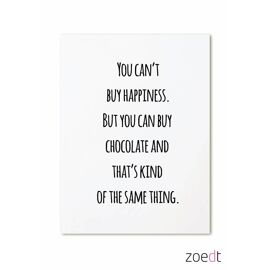 Postkaart You can't buy happiness... / Zoedt