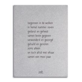 Postkaart huwelijk jubileum / Zoedt