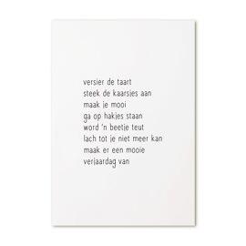 Postkaart Verjaardag / Zoedt