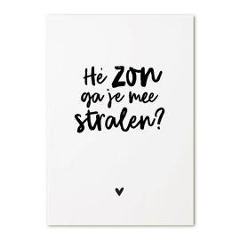 Postkaart Hé zon, ga je mee stralen? / Zoedt