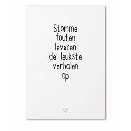 Postkaart Stomme fouten leveren de leukste verhalen op / Zoedt