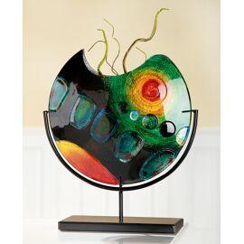 Vaas Zonsondergang op standaard Glas-Art