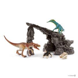 Dinosaur kit with cave