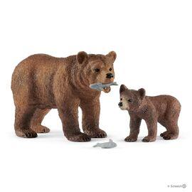 Vrouwelijke Gryzzlybeer met Grizzlybeertje