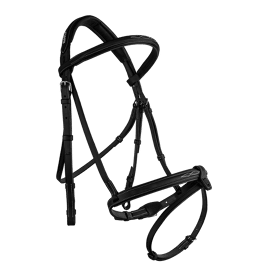 Cwd Raised French Bridle With Fancy Stitching