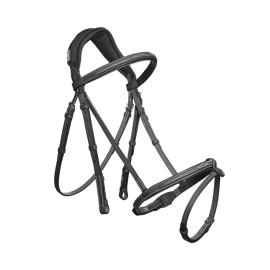 Cwd Anatomic French Bridle with Fancy Stitching