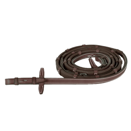 Cwd Rubber Reins With Stoppers Fancy Stiching