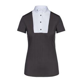 CT shirt met vleugelkraag, korte mouw