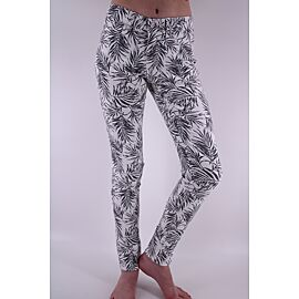 WONDERJEANS SKINNY LEAVE WIT ZWART