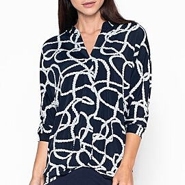 BLOUSE ROPE NAVY