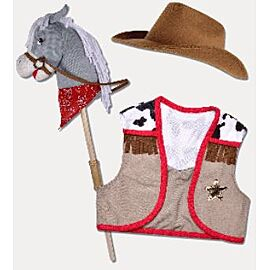 Waldhausen Play set with stick horse and accessories
