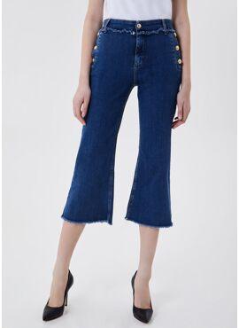 DENIM BLUE FRINGED - PANTS