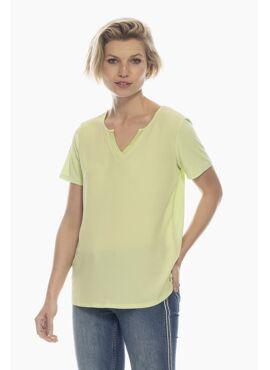 t-shirt split v-hals