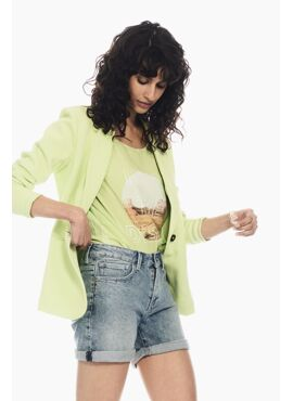 Pittige pistache groene blazer