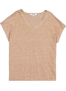 T-shirt glitter v-hals