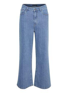 Culotte jeans met streep