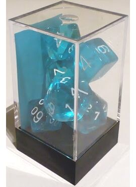 Translucent Poly Dice: Teal