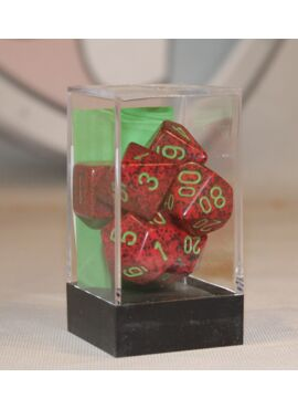 Speckled Poly Dice: Strawberry