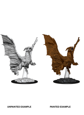 Nolzur's Miniatures: Young Copper Dragon