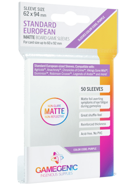 GameGenic Matte Standard European Sleeves