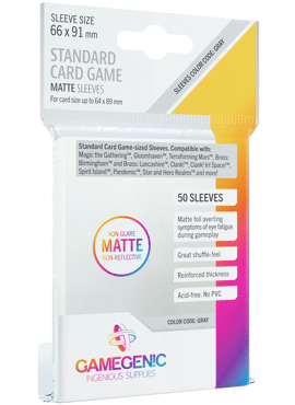 GameGenic Matte Standard Card Game Sleeves
