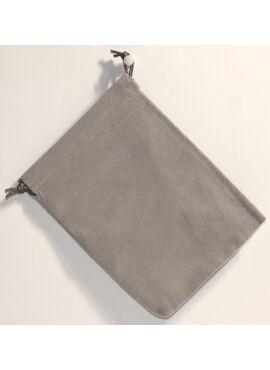 Suede Dice Bag: Grey