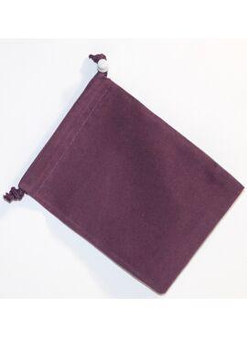 Suede Dice Bag: Purple