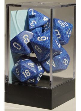 Speckled Poly Dice: Water