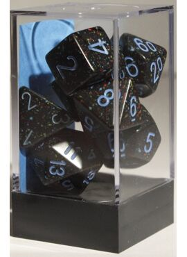 Speckled Poly Dice: Blue Stars