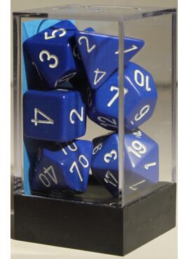 Opaque Poly Dice: Blue