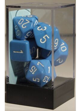 Opaque Poly Dice: Light Blue