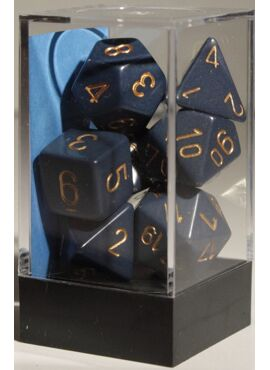 Opaque Poly Dice: Dusty Blue