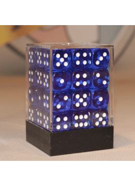 Translucent D6 Dice Block: Blue