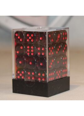 Translucent Brick D6: Smoke Red