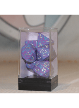 Speckled Poly Dice: Silver Tetra