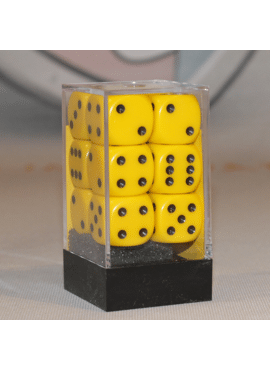 Opaque Large D6 Dice Block: Yellow