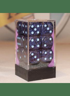Speckled D6 Large Dice Block: Cobalt