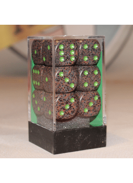 Speckled D6 Large Dice Block: Earth