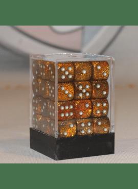 Glitter D6 Dice Block: Gold