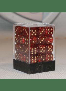 Glitter D6 Dice Block: Ruby