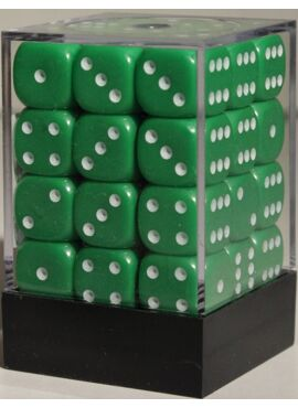 Opaque D6 Brick: Green