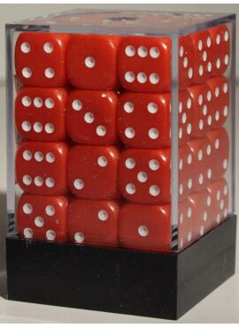 Opaque D6 Brick: Red