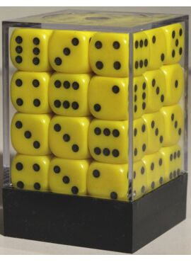Opaque D6 Brick: Yellow