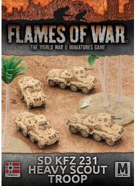 DAK: Sd Kfz 231 Heavy Scout Troop