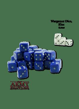 Wargame Dice Blue / White