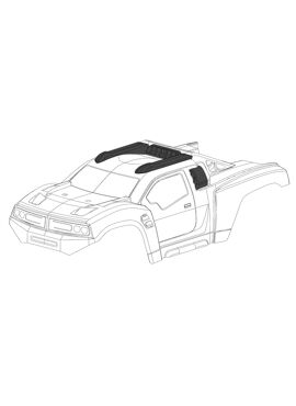 Polycarbonate Body - Punisher XP - Clear - Cut - 1 pc
