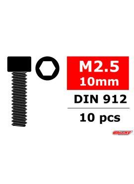 Team Corally - Staal schroeven M2.5 x 10mm - Cilinderkop binnenzeskant - 10 st